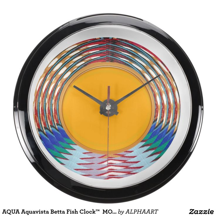AQUA Aquavista Betta Fish Clock™  MOON LUNE Fish Tank Clock