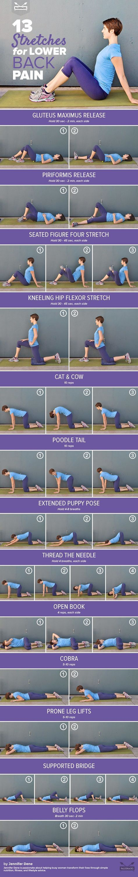 Relieve your lower back pain with these gentle yet effective stretches.