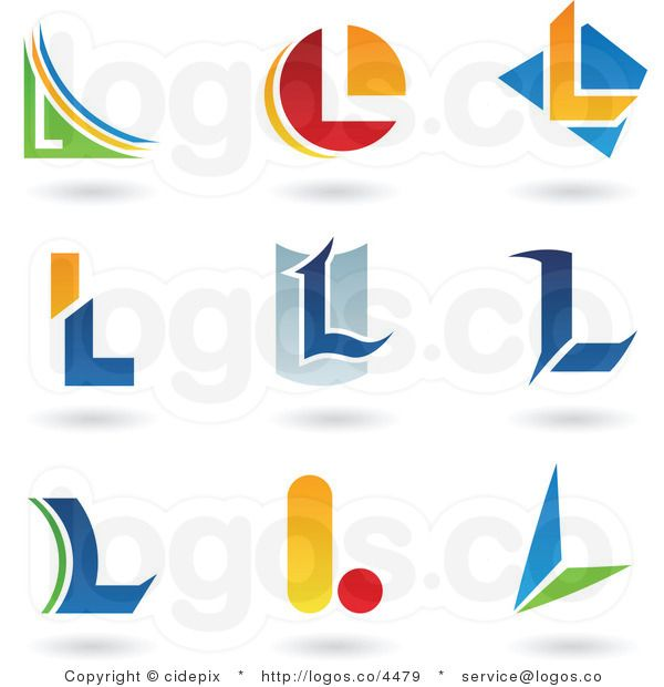Royalty Free Collage of Letter L Logos