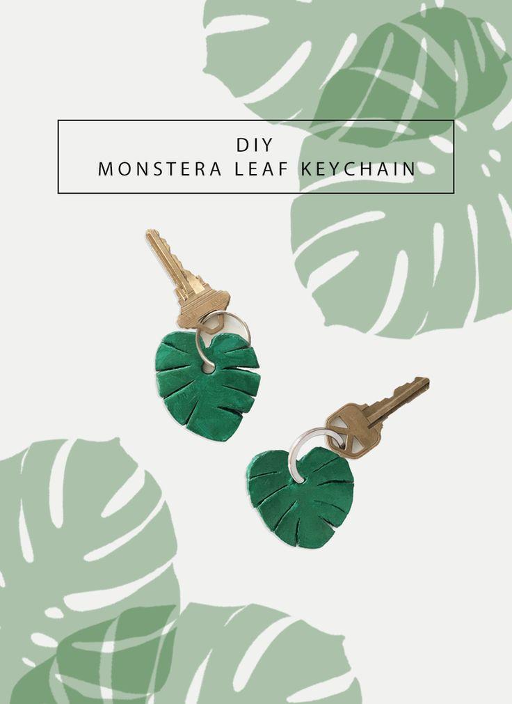 DIY Monstera Leaf Keychain by Drawn to DIY
