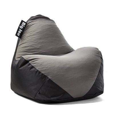 Big Joe Warp Bean Bag Chair Upholstery Black Gray
