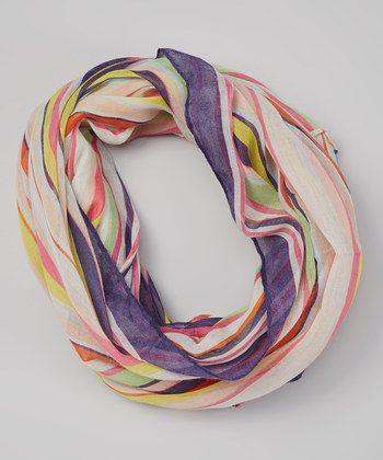 sprng striped scarf