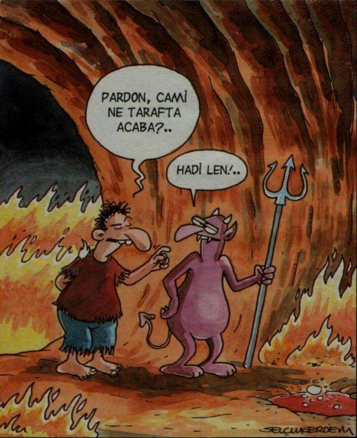 - Pardon, cami ne tarafta acaba?.. + Hadi len!.. #karikatür #mizah #matrak #komik #espri #şaka #gırgır #komiksözler #selçukerdem