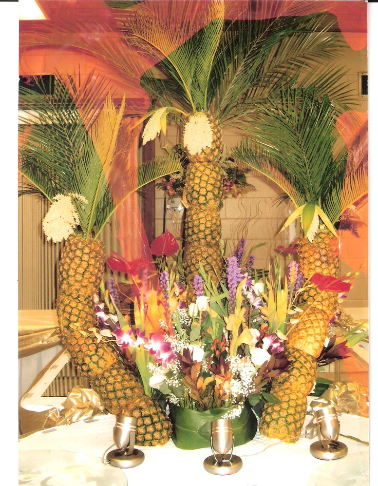 Pineapple Tree Centerpieces Tree Centerpieces And