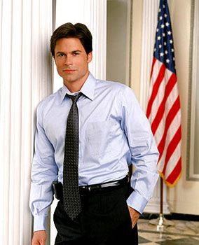 Another two things I like in life, in one photo: The West Wing and Rob Lowe!
