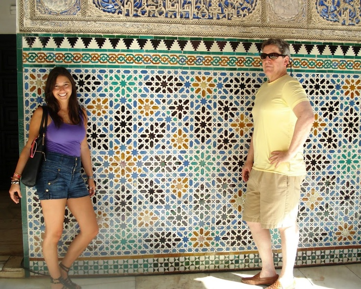 Sara and her Dad in Alcazar Real May 2009 Seville