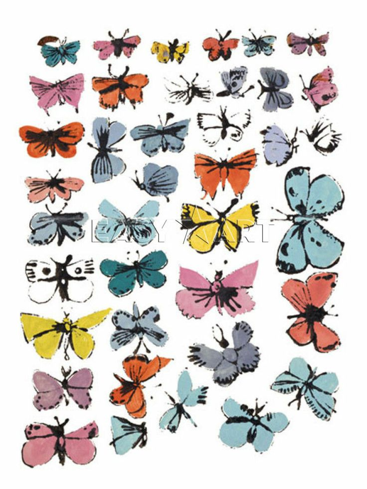 Butterflies, 1955  (many varied colors)