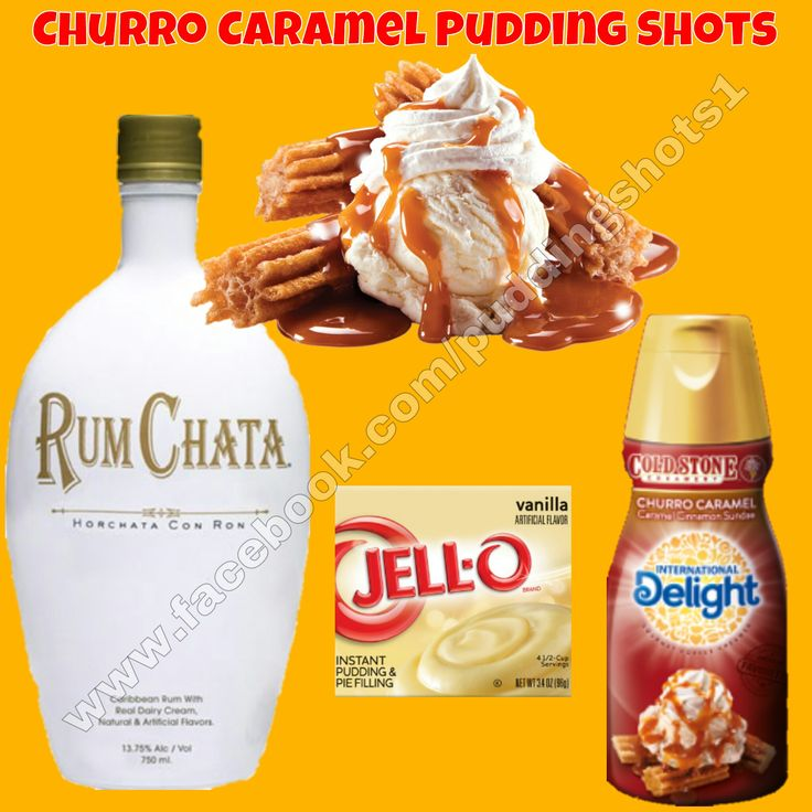 Churro Caramel Pudding Shots.  See full recipe and more on www.facebook.com/puddingshots1