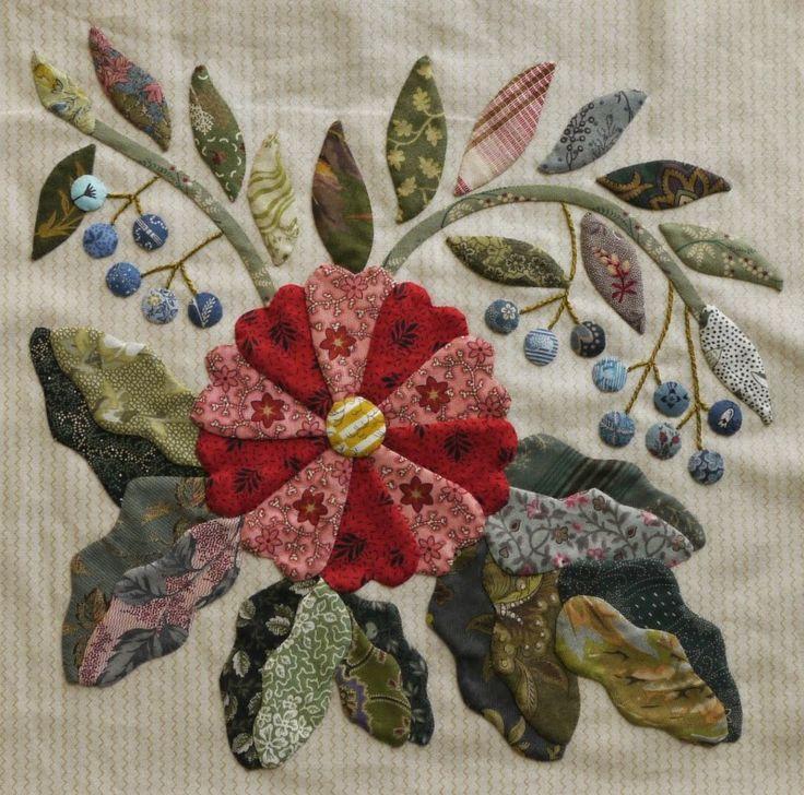 """JANE'S THREADS AND TREASURES: Caswell, """"..Bloemen en Besjes.........Flowers and Berries.."""""""