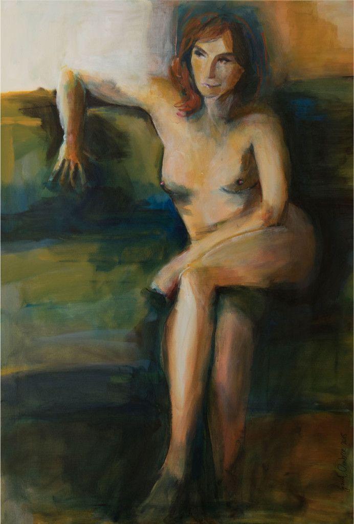 Schilderij 'Marian' 70 x 100 cm € 2.495,- Voor dit schilderij stond actrice en schrijfster Marian Mudder model. Uniek en enig exemplaar uit de collectie Hollandse Naakten.