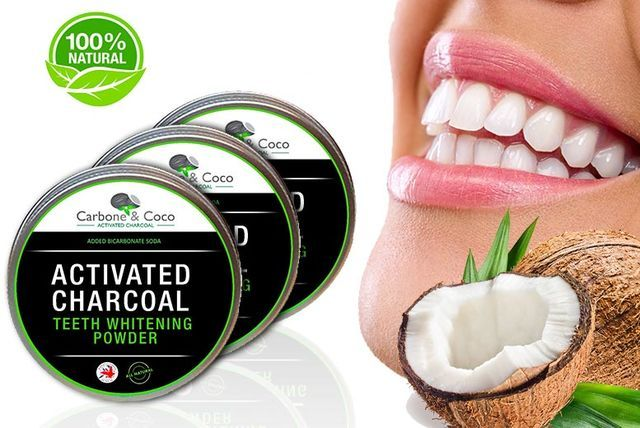 150g Carbone & Coco Charcoal Teeth Whitening Powder