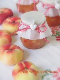 Pfirsich-Amaretto-Marmelade mit Vanille