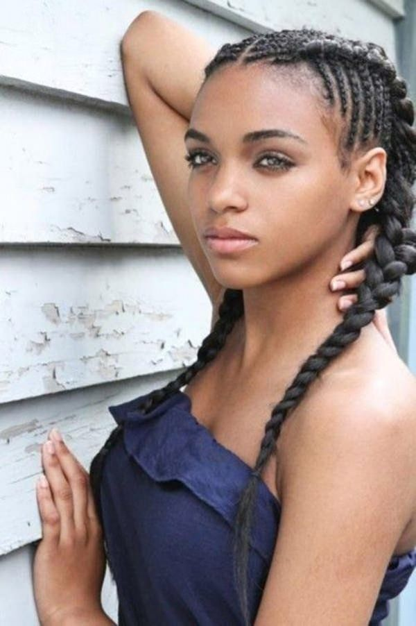 Top Two Braided Lines Hairstyle Tips 24 Populer 47 Of The Most Inspired Cornrow Hairstyles Braids For Black Hair Cornrow Hairstyles Hair Styles