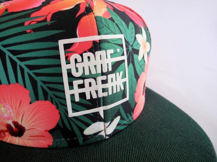 Snapback GRAFREAK #cap #czapka #daszek #baseball #flowers #streetwear