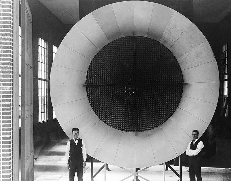 The honeycombed, screened center of this open-circuit air intake for Langley's first wind tunnel insured a steady, nonturbulent flow of air, public domain via Wikimedia Commons.