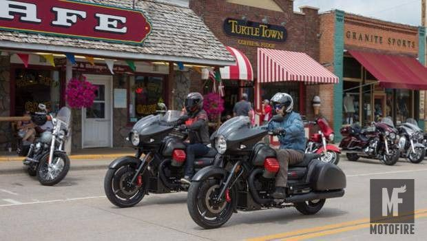 Moto Guzzi MGX-21 'Flying Fortress' caught in the wild at Sturgis! The new, Italian 'bagger' is live and in the, rolling metal at the Sturgis rally. We were oddly enamoured with the Moto Guzzi MGX-21 when we first saw it at the EICMA show in November of 2015. The hard, black and swooping lines with those bright red accents on the cylinder heads and... See http://mofi.re/2b7FEQE for more. #Bagger, #Cruiser, #MGX21, #MotoGuzzi, #Sturgis