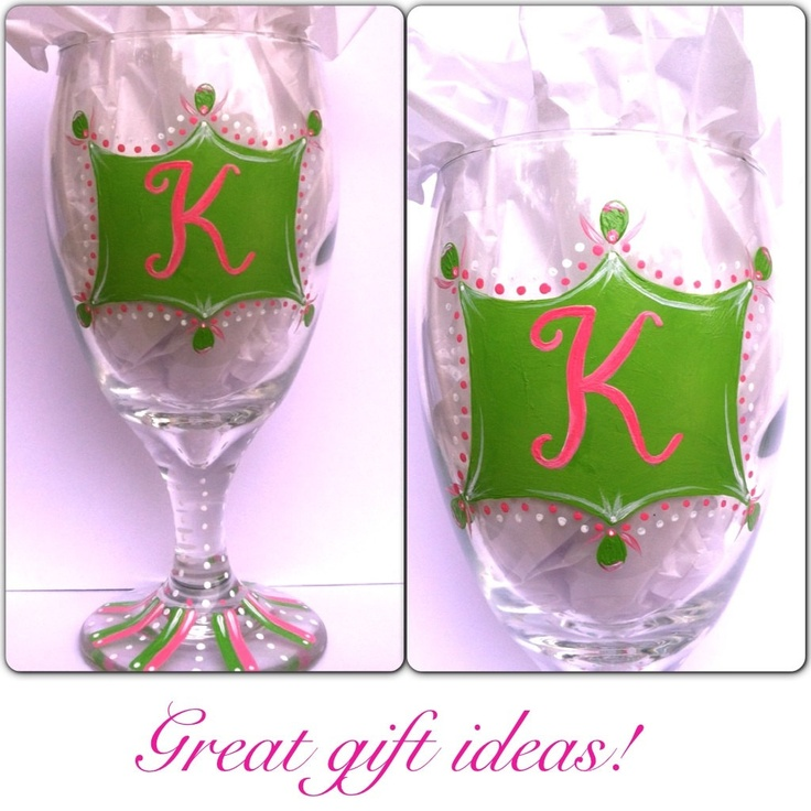 17 best images about glass ideas on pinterest stripes for Painted wine glasses with initials