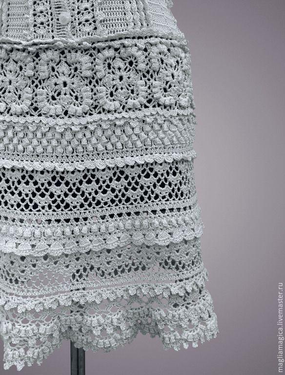 Купить Лекси - серый, однотонный, платье, платье летнее, платье вязаное, Платье нарядное