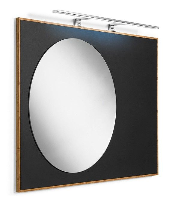 #Lineabeta #Luni #mirror 81143.03 | #Modern #Wood | on #bathroom39.com at 530 Euro/pc | #accessories #bathroom #complements #items #gadget