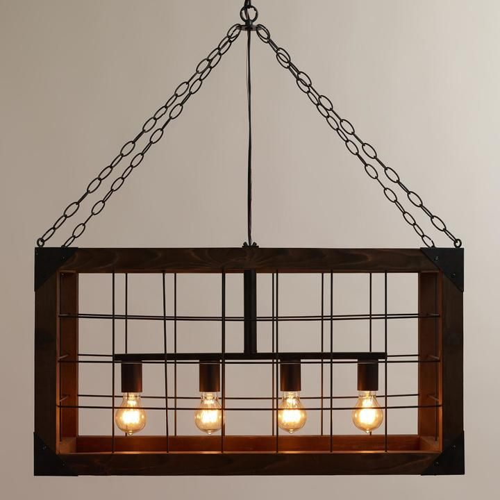 rectangular farmhouse pendant lamp - Farmhouse Light Fixtures