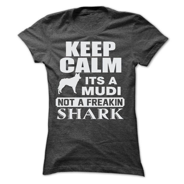 KEEP CALM IT IS A MUDI Cool Mudi T Shirt (*_*)