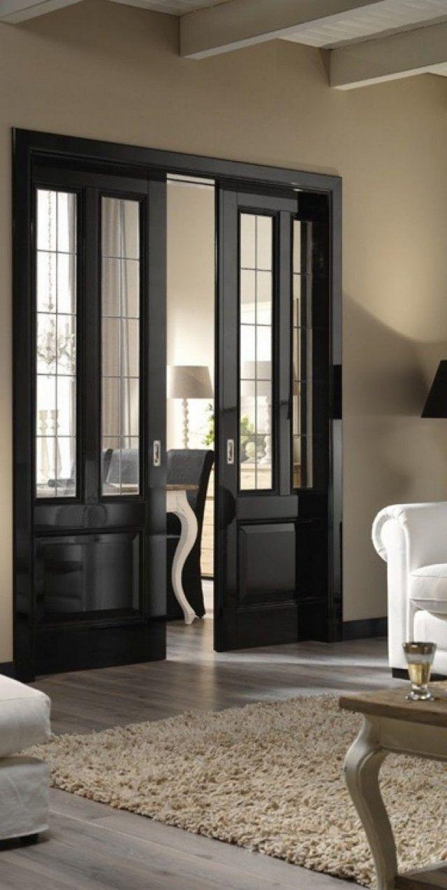 35 Luxury French Living Room Design Ideas Black Interior Doors Doors Interior French Doors Interior Living room french doors