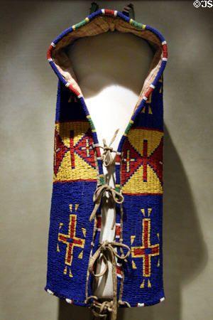 Lakota beadwork hood cradle board (c1895) at Buffalo Bill Historical Center. Cody, WY.