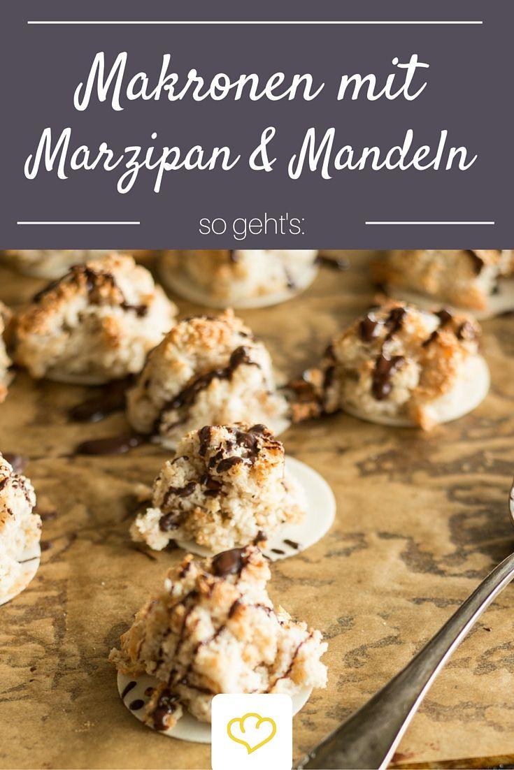 Der Plätzchen-Klassiker Makronen wurde hier noch mit Mandeln und Marzipan verfeinert - Vorsicht: Suchtgefahr!