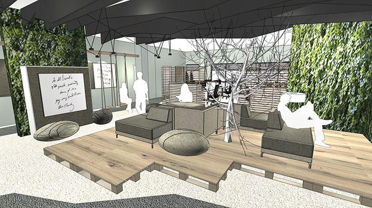 Innenarchitektur: Kommunikationsinsel – variantenreiche Sitzlandschaft mit Lounge-Charakter – initiiert Begegnungen. Loungesofa Places von Febrü.