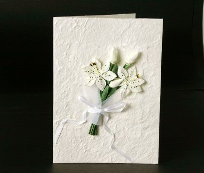 Handmade rustic wedding invitations made from recycled card. www.kardella.com