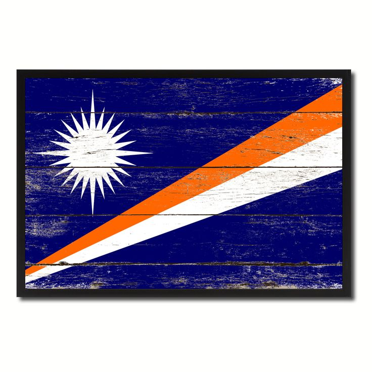 Marshall Islands Country National Flag Vintage Canvas Print with Picture Frame Home Decor Wall Art Collection Gift Ideas