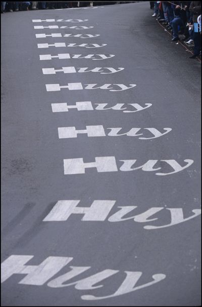 Mur de Huy is a famous cycling hill, although it looks like the sound i make every few feet on a walk home from a night out.