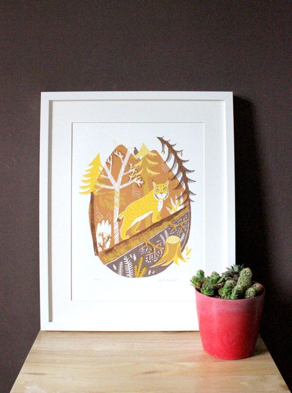 Forest // Original hand pulled screenprint by essillustration