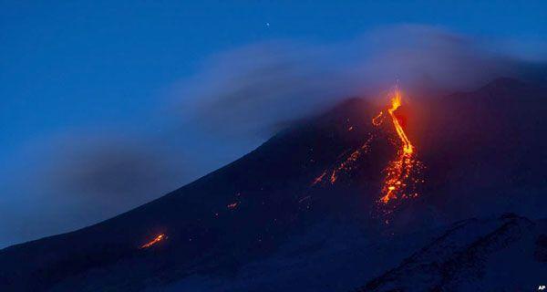Sicile Le Volcan Etna S Est Reveille Avec Images Sicile Volcan