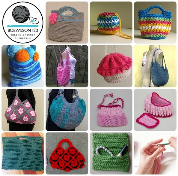 39 best Crochet Bag video tutorials & written patterns images on ...