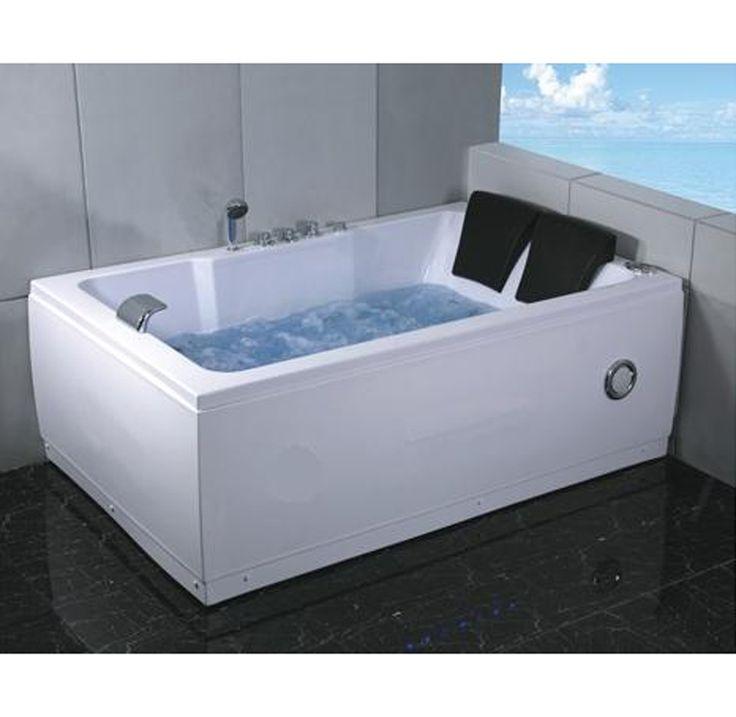 Vasca idromassaggio 185×120 cm con cromoterapia e radio