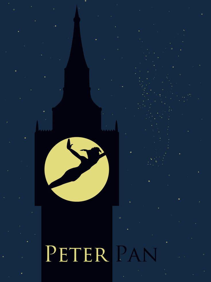 Poster minimaliste de Peter Pan.