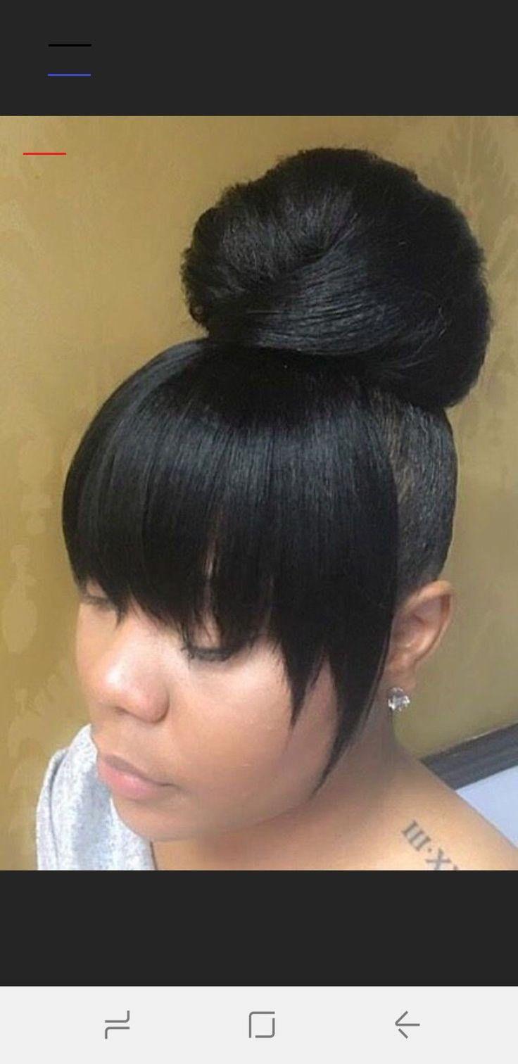 High Bun Hairstyles For Black Women Bunshairstylesforblackwomen En 2020 Cabello Y Belleza Estilos De Cabello Peinados