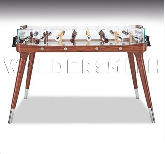 Teckell 90 Minuto Table Football Table. Transparent crystal playing field. Handmade in Italy. Perfect to rest your beer on while playing. #luxury #tablefootball #foosball #crystal #soccer. Purchase it: http://www.gamesroomcompany.com/Product_Catalogue/Table_Football/Table_Football_Tables/Teckell_90_Minuto_12062
