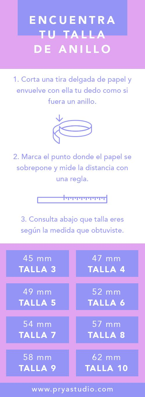 Guía para encontrar tu talla de anillo