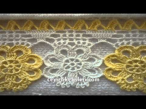 Konya Yöresel Havlu Kenarı Dantel Modeli : Easy Towels Lace Edge Model - YouTube