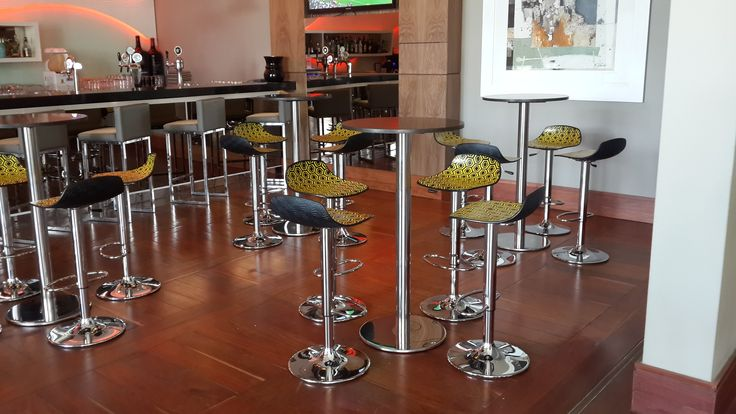 Alhambra Barstool and Tiffany Table installed at the Radisson Blu Hotel in Sandton