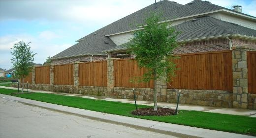 Fence for backyard?  I kind of like it not being all one kind of fencing.