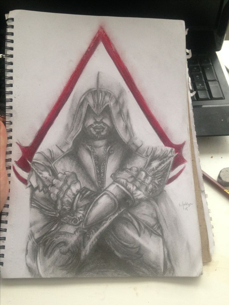 My sketch of Ezio.