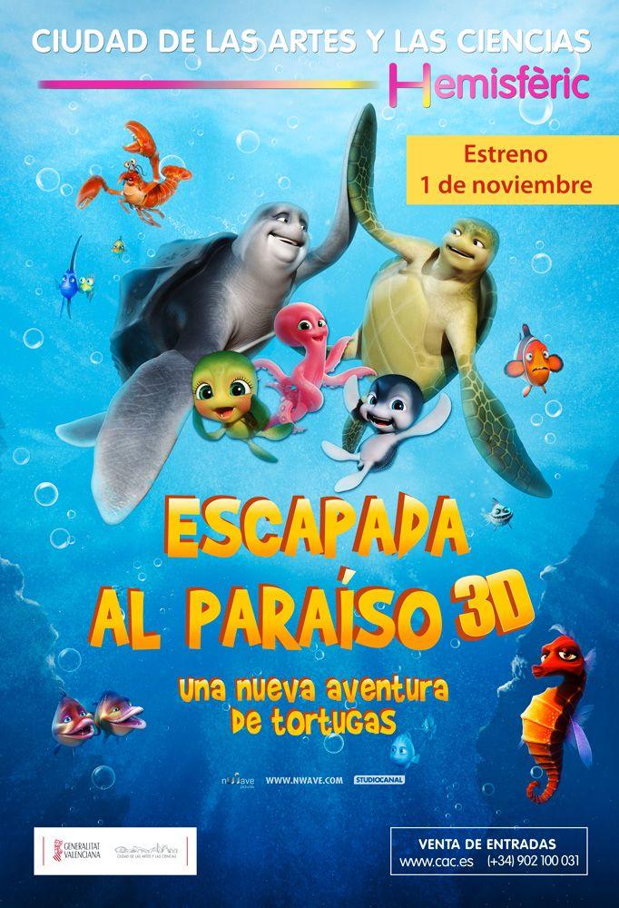 Película de animación infantil en cine digital 3D en el Hemisfèric. Presenta una historia de amistad y de trabajo en equipo a través de las aventuras de dos simpáticas tortugas de mar, Sammy y Ray que serán capturadas por cazadores furtivos y vivirán increíbles experiencias para regresar a su hogar.