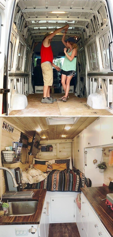 25+ Beste Schulbus- und Van-Umbauten in winziges Haus