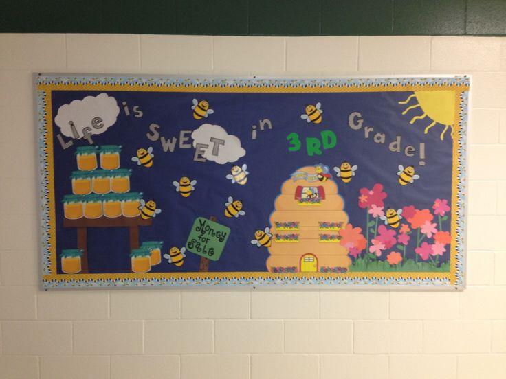 Bee Bulletin Board I Made For My Sisters Classroom Life Is Sweet In 3rd