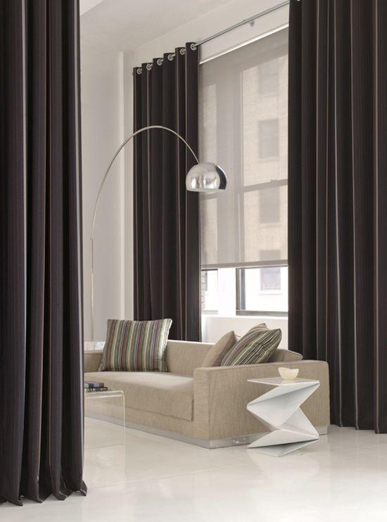 Perdea de camera cu functie de divizor pentru un spatiu mare ce necesita intrebuintari diferite sau pentru un apartament studio.