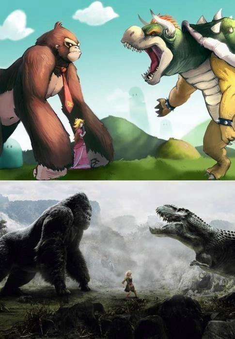 Donkey Kong vs. Bowser