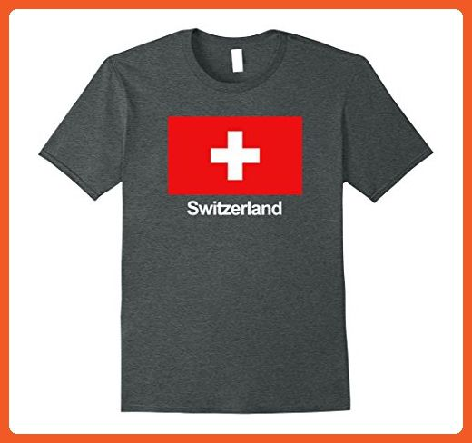 Mens Switzerland Flag T-Shirt XL Dark Heather - Cities countries flags shirts (*Partner-Link)